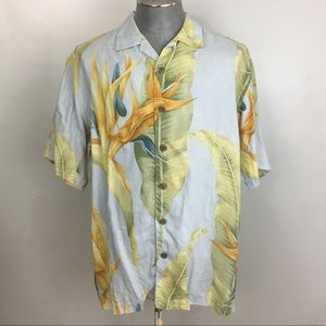 Tommy Bahama Linen Shirt Bird Of Paradise Medium